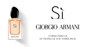 Échantillons gratuits de l'eau de parfum Sì de Giorgio Armani
