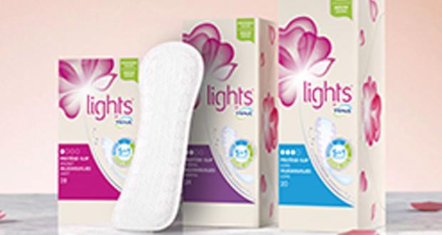 Échantillons gratuits de protège-slips Lights by Tena