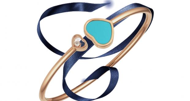 Bracelet or rose et turquoise