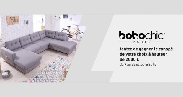 Canapé Bobochic au choix (valeur 2000 euros)