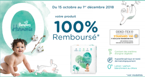 Couches Harmonie Pampers 100% Remboursé