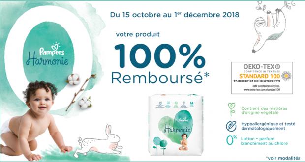Couches Harmonie Pampers 100 Remboursé En 2 Bons