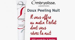 Testez le Peeling Doux Nuit de Embryolisse