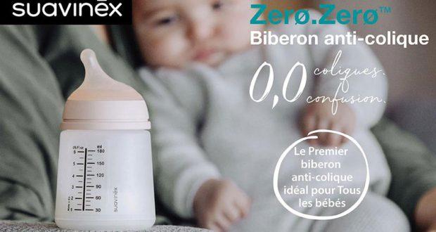 Testez le biberon anti-colique Zero.Zero de SUAVINEX