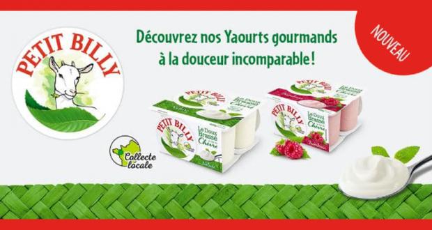 Yaourts Petit Billy Le Doux Brassé 100% remboursés