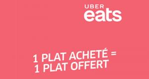 1 plat acheté = 1 plat offert avec Uber Eats