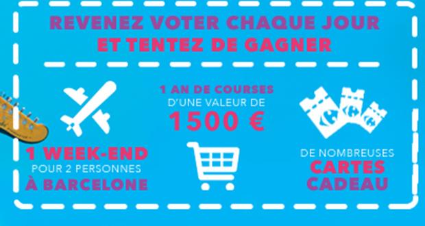 1500 euros de bons d'achat Carrefour