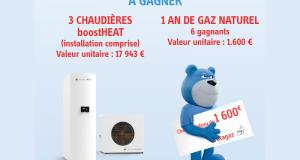 3 chaudières à gaz avec l'installation (valeur 17 942 euros)