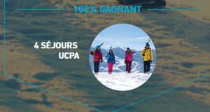 4 séjours UCPA hiver 2019 d'une semaine pour 2 personnes