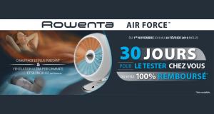 Chauffage Ventilateur Air Force Rowenta 100% Remboursé