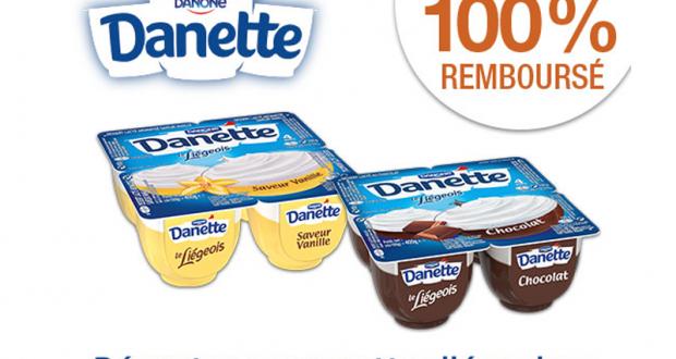 Danette Liégeois 100% remboursés