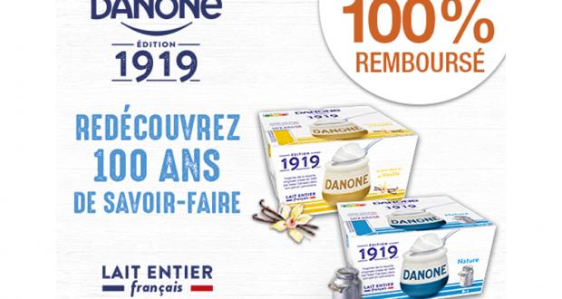 Danone Gamme 1919 100% remboursé