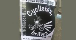 Distribution gratuite d'accessoires réfléchissants pour cycliste