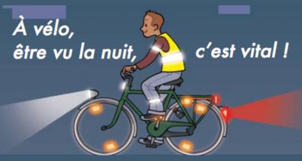Opération éclairage marquage de vélo gratuit