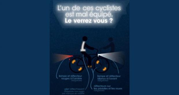 Sensibilisation et distribution éclairage pour les cyclistes
