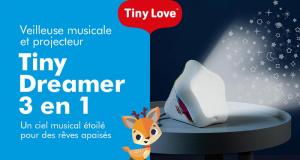 Testez la veilleuse et projecteur Tiny Dreamer de TINY LOVE