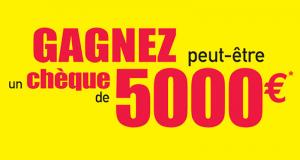 Un Chèque de 5000 euros