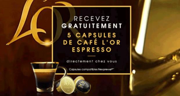 100 000 échantillons gratuits de capsules de café l'OR Espresso