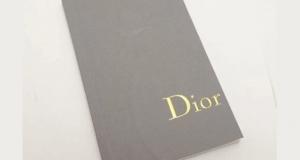 Notebook / Carnet Dior Gratuit chez Sephora