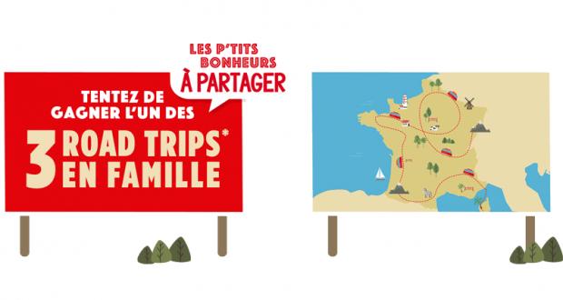 3 séjours d'une semaine en France métropolitaine
