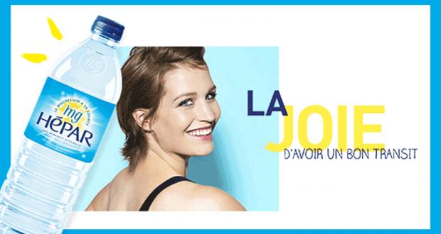 Packs de bouteilles d'eau gratuits