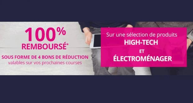 Sélection de produits Electroménager & High-Tech 100% remboursés
