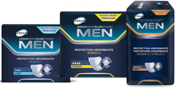 Échantillons gratuits de produits TENA Men