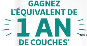 1 an de couches Auchan Baby
