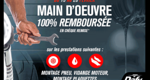 Montage Pneu et Plaquettes - Vidage moteur 100% remboursés