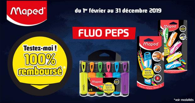 Surligneurs Fluo Peps Maped 100 % remboursé