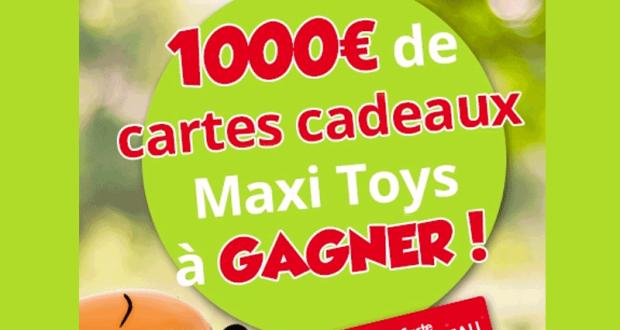 10 chèques cadeau Maxitoys de 100 euros