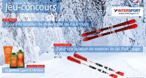 10 lots de 7 jours de location de matériel de ski Intersport