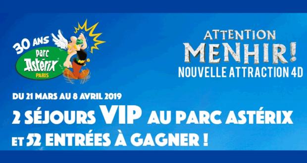 2 séjours VIP au Parc Astérix pour 4 personnes