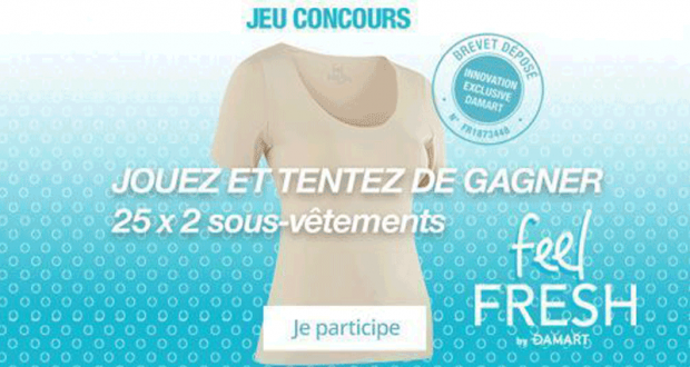 25 lots de 2 sous vêtements Damart