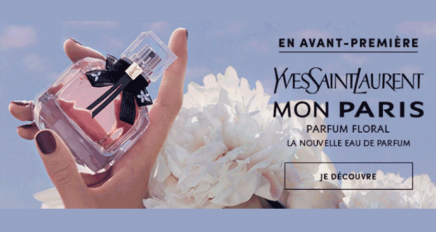 5 eaux de parfum Mon Paris Floral d'Yves Saint Laurent