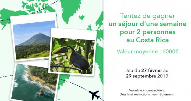 Voyage d'une semaine pour 2 personnes au Costa Rica