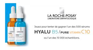 10 000 échantillons et 500 Sérums Hyalu B5 ou Pure Vitamin C10