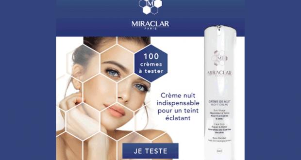 100 Crèmes de Nuit de Miraclar à tester