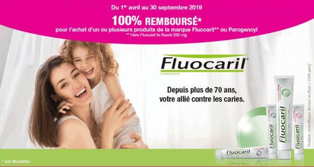 100% remboursé sur votre Dentifrice Fluocaril ou Parogencyl