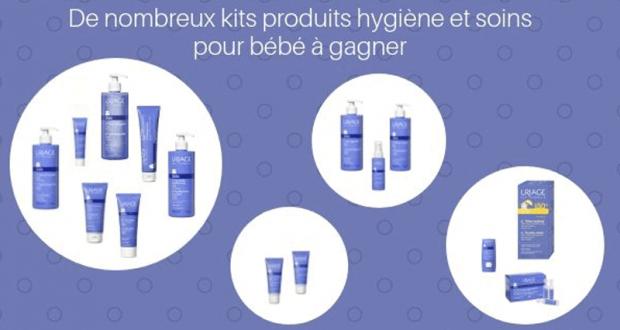 17 kits contenant des produits d'hygiène et de soins Uriage