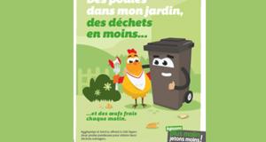 2 poules à réduction de déchets offertes