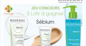 5 Lots de 3 produits Bioderma Sébium