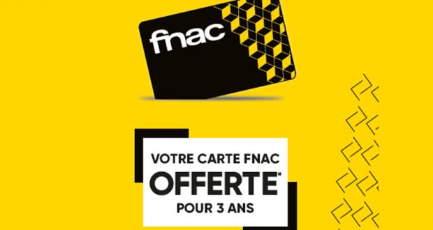 Carte Fnac 3 Ans gratuite en Magasin