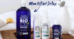 Des rituels Détox comprenant 5 produits de beauté Corine de Farme