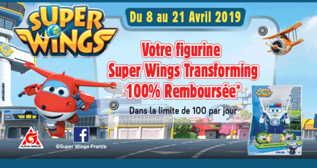 Figurine Super Wings Transforming 100% Remboursé