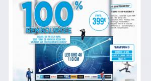 La tv 43 samsung 43NU7125 100 % remboursée