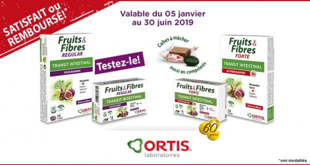 Ortis Fruits & Fibres 100% Remboursé