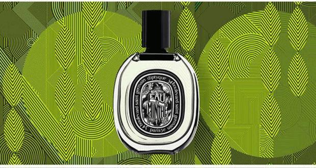 Échantillons gratuits du parfum Eau de Minthé de Diptyque