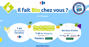 1 an de courses Carrefour - 1 an de shopping