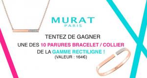 10 parures bracelet collier de la gamme Rectiligne